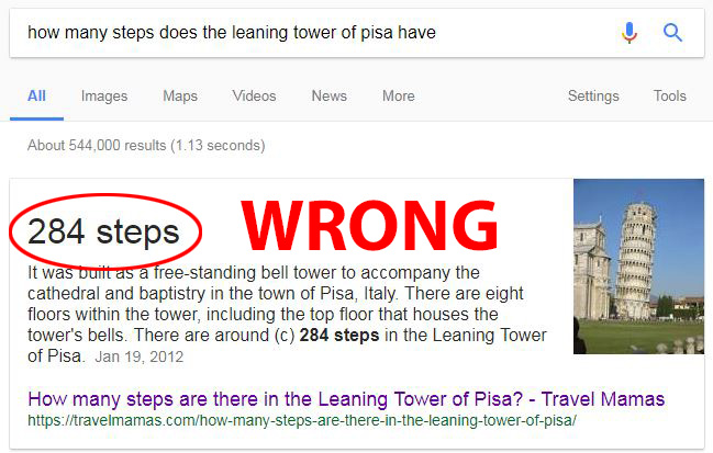leaning tower pisa stairs steps count google